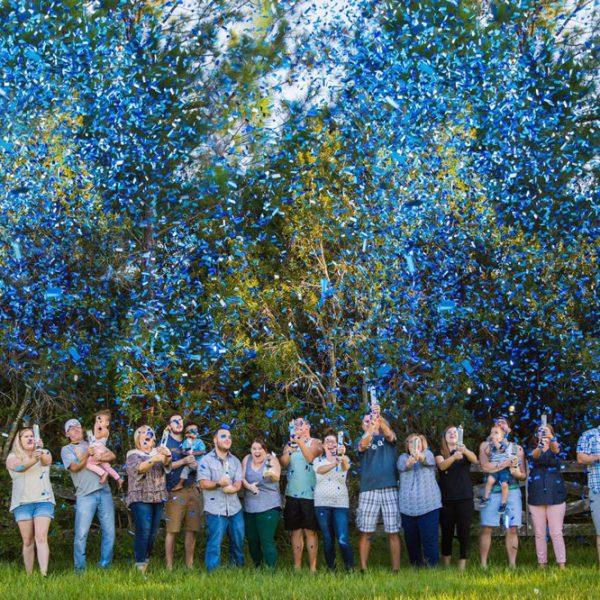 Gender Reveal Confetti Cannons | Melbourne | Kaboom Confetti