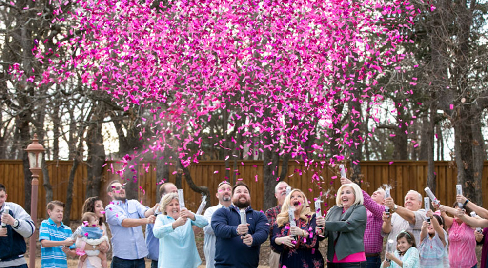 Gender Reveal Handheld Confetti Cannons