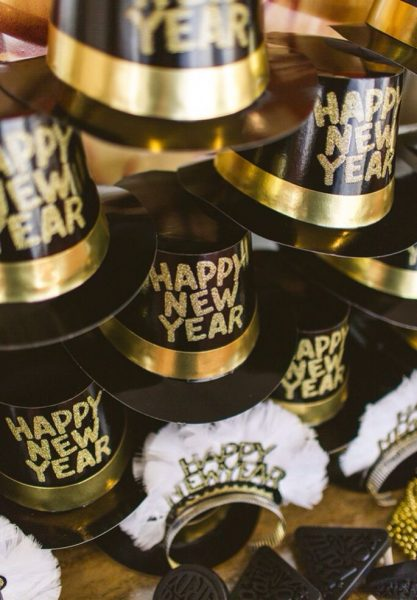 Party Hats New Years Eve | New Year Clock | New years Eve Confetti Cannons