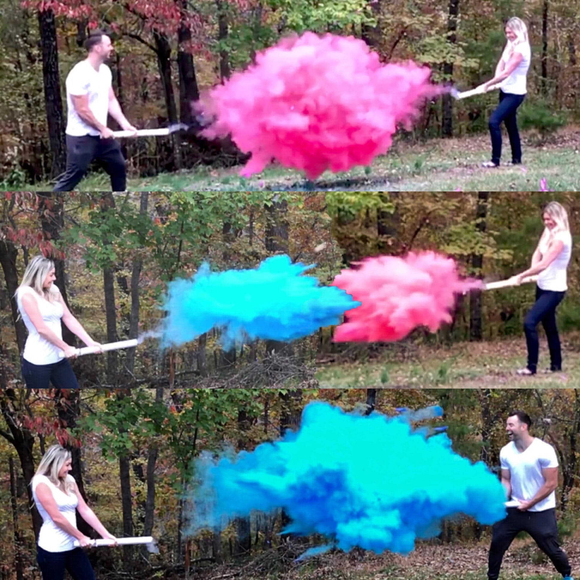 Color Powder Gender Reveal >> Holi Powder Cannon