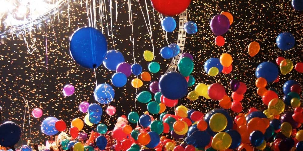 Balloon Drop and Confetti Cannons