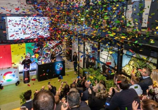 office opening confetti cannons